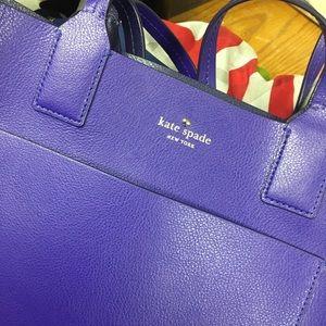 kate ♠️ spade purple leather handbag — nwot